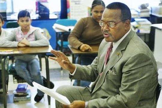 In 2007 Richard Barber Sr., treasurer of the New Jersey NAACP read poetry by Langston Hughes on the 1st day of Black History Month at the Sampson G. Smith Middle School in Franklin.