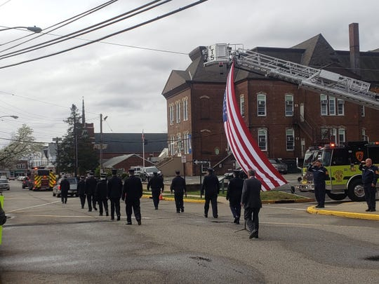 Funeral procession for Richard Gould of Woodbridge