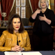 Gov. Gretchen Whitmer appears in a live briefing on April 6, 2020.