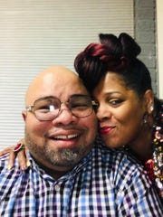 Desha Hargrove with her husband, Jason, a DDOT bus driver who died of COVID-19.
