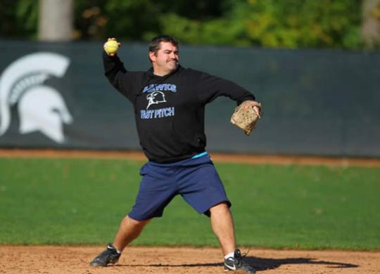 Matt Charboneau's pro sports career didn't pan out. Perhaps you can tell by his form.