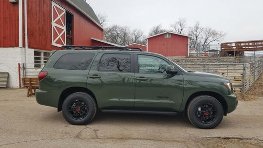 The rear-drive-based, 2020 Toyota Sequoia also comes with a 4x4 option for Michigan winters and remote country homes.