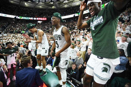 Michigan State celebrated a share of the Big Ten regular-season title here, but a simulation from FiveThirtyEight.com had the Spartans winning the NCAA Tournament.