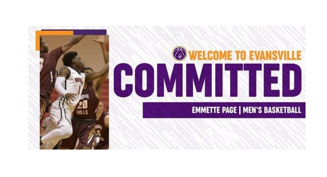 Emmette Page is the first player to commit to Evansville in the Todd Lickliter era.