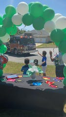 Leon County EMS and Fire departments surprised 6-year-old Zarek Scott with a parade of about a dozen vehicles in front of his home for his birthday.