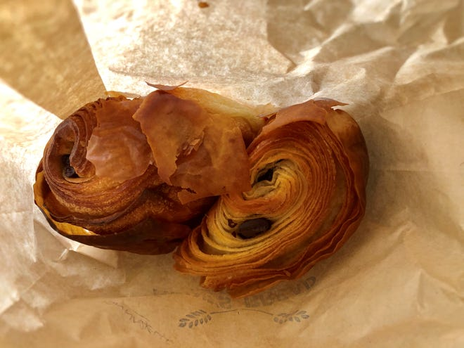Chocolate croissants from Aline's Bread in Fort Myers, which delivers its freshly baked goods on Mondays.