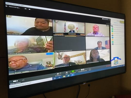 Fort Myers city council met on Monday over Zoom, a video-conferencing program, in order to maintain social distancing during the COVID-19 pandemic.