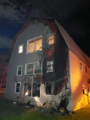 No injuries were reported from an apartment fire in Brooktondale on Sunday night.