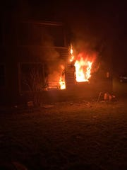 A fire destroyed an apartment unit at 211 Brooktondale Road in Brooktondale on Sunday night.