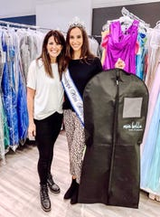 Owner of Mia Bella Prom, Tammy Patridge (left)  with Kasey Pearson, Mississippi's Miss Hospitality 2020 (right)
