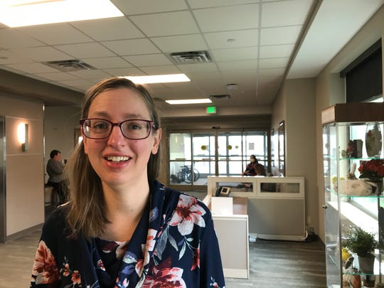 Pam Landrum, an intensive care unit nurse at IU Health Arnett Hospital, is among dozens of health care workers assigned to the Lafayette hospital's new COVID unit to deal with cases related to the coronavirus pandemic.