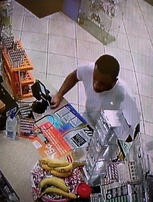Lafayette police released a photo Monday captured by a security camera of a man they suspect robbed a gas station on Teal Road on March 22, 2020.