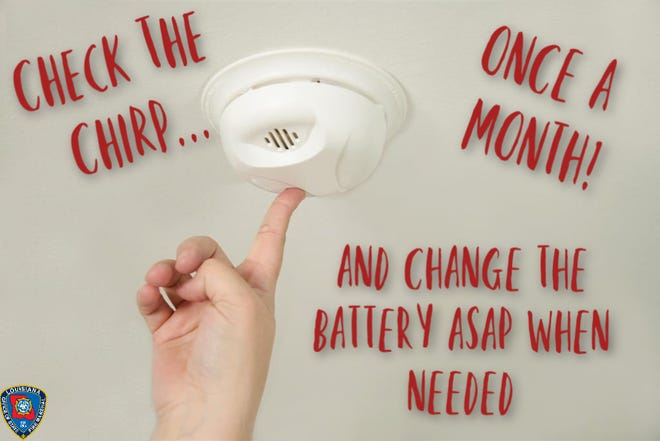 The Louisiana State Fire Marshal's Office is sharing daily tips for fire safety. This one reminds families to check the batteries on smoke alarms.