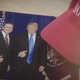 A photo of Rep. Thomas Massie and President Donald Trump featured in a new TV ad