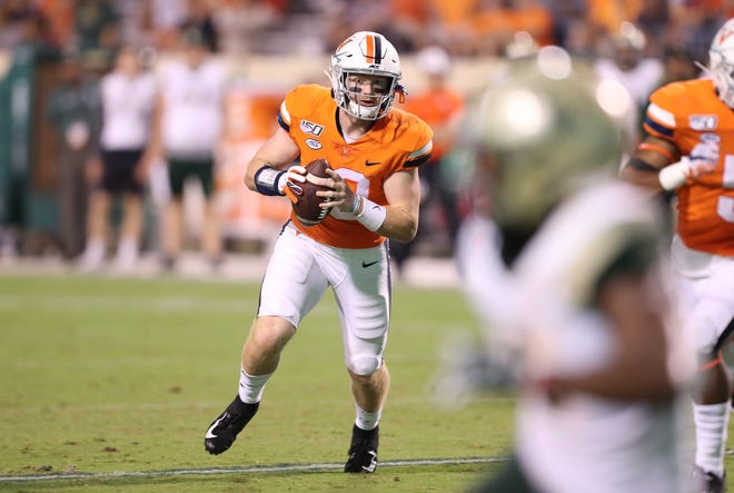 Shelby grad Brennan Armstrong, the 2017 News Journal Co-Player of the Year, is the projected starting quarterback at the University of Virginia when college football resumes.