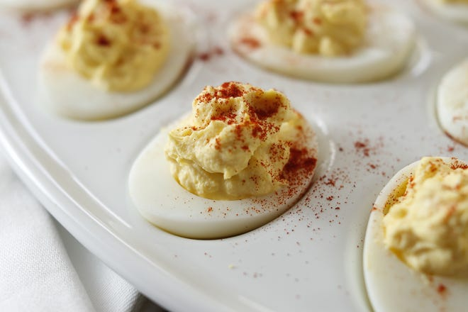 Deviled eggs make a delicious Easter treat.