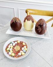 Sprinkle Explosion Jumbo Chocolate Easter Eggs from 17 Berkshire.