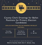 Morris County primary election ballot position drawing will be live-streamed.