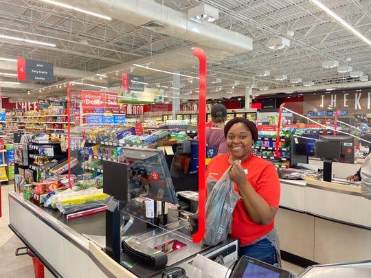 Winn-Dixie recently installed Plexiglas guards at store registers.