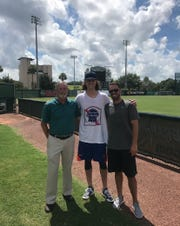 New York Mets ace Jacob deGrom has remained in touch with Rick Hall (left) and Nick Pugliese (right) since he met them.