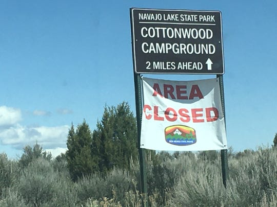 Navajo Lake State Park is closed due to the coronavirus pandemic.