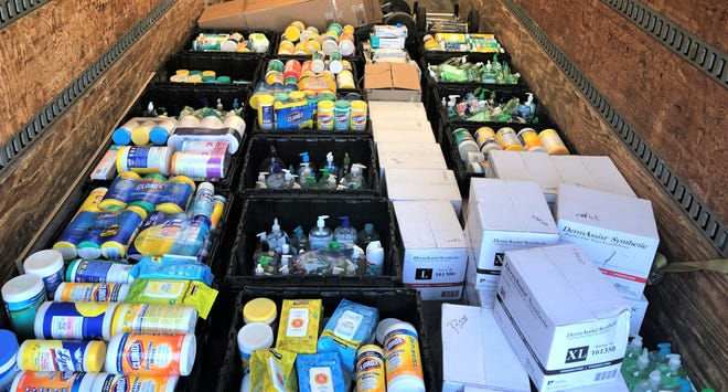 The supplies were given to Oakland County for use.