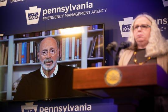 Gov. Tom Wolf has let Pennsylvania's health secretary, Rachel Levine, take the public lead.