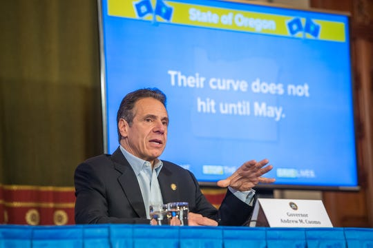 """New York Gov. Andrew Cuomo has taken the national spotlight as the """"coronavirus governor,"""" with his colorful press briefings, candor, and willingness to go toe-to-toe with President Donald Trump to bring home needed supplies."""
