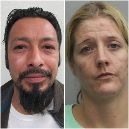 Bernardo Teran and Natasha Rae Long, both charged with violation of the Disease Control & Prevention Act and possession in public prohibited. Long also faces one count of resisting arrest.