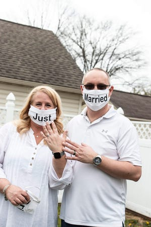 Holly Rankin and David Fox married on April 4 amid the coronavirus pandemic. The two wanted to get married on that day, and they decided to have a small ceremony at their home in Hanover. Their reception had to be postponed until the fall.