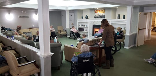 "Residents at Sundial Assisted Living in Redding. Workers at the facility will receive a 10% ""appreciation bonus"" for their work during the coronavirus pandemic."