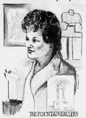 A sketch of Arlene Schnitzer that appeared in the October 13, 1978 edition of the Oregon Statesman by staff artist Jac Crawford.