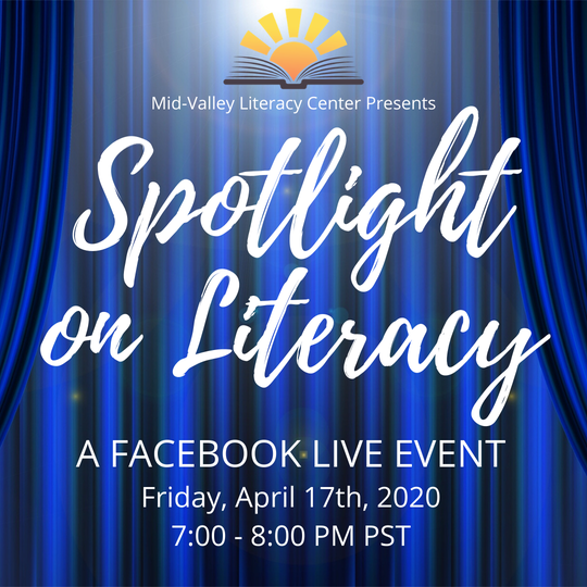 The Mid-Valley Literacy Center will host its annualSpotlight on Literacy Benefit April 17 on Facebook Live.
