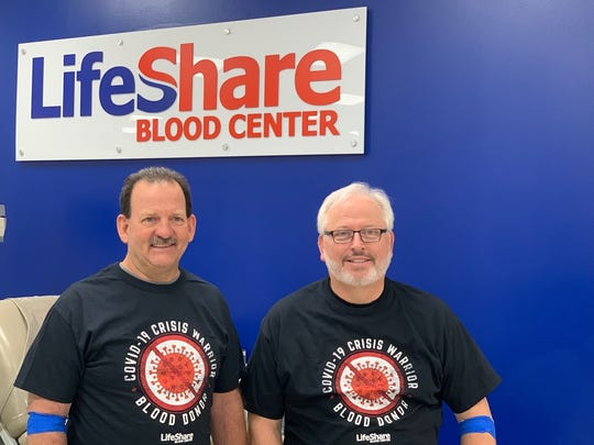 Cpl. Kevin Calhoun and his friend David Langston both donated one of the first COVID-19 convalescent plasmas in Louisiana, according to LifeShare Blood Center.