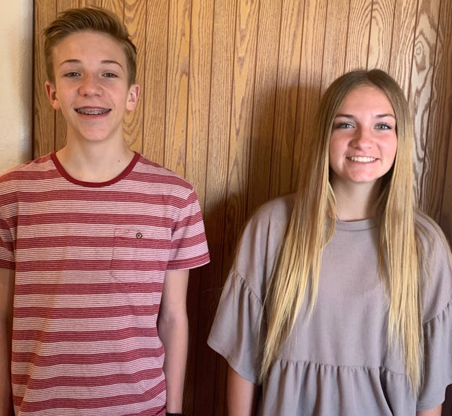 Cole Telford, left, and Mackenzie Telford combined for an explosive sibling performance recently at the 2020 Utah State Youth Bowling Tournament.