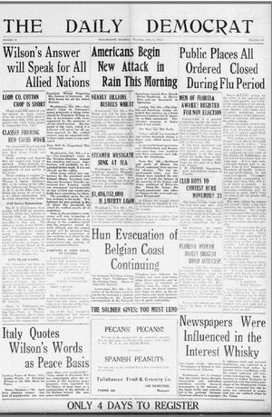Front page of the Daily Democrat in October, 1918.