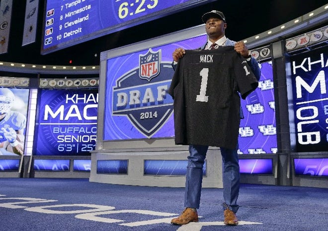 Former Fort Pierce Westwood linebacker Khalil Mack, shown during the May 2014 NFL Draft.