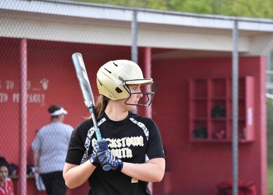 Clarkstown South's Elizabeth Dwyer steps up to the plate during a game.
