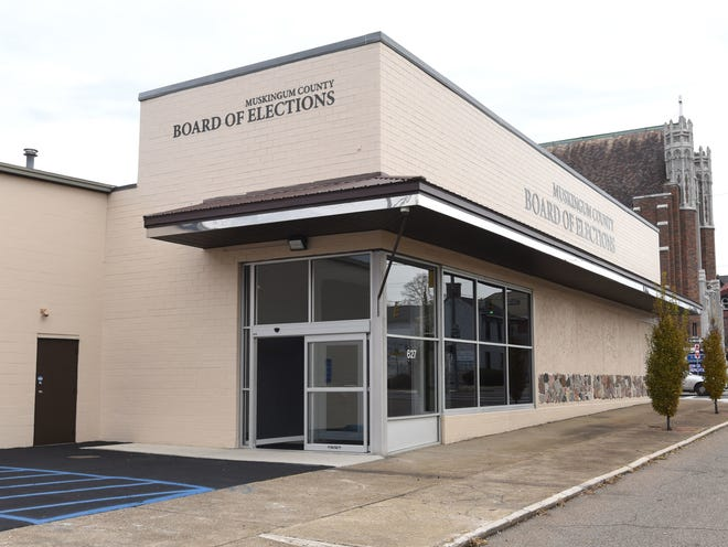 The Muskingum County Board of Elections building on Market Street in Zanesville.