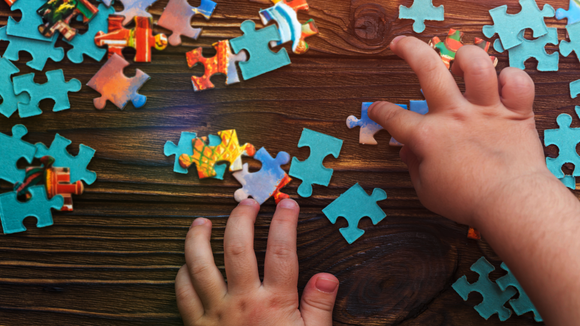 A puzzle can keep little hands occupied for hours.