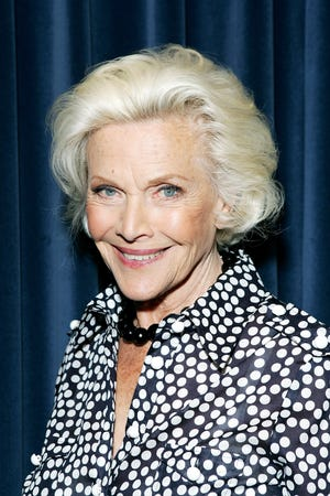 Actress and singer Honor Blackman poses for a photograph whilst recording her single 'The Star Who Fell From Grace' on May 15, 2008 in London.