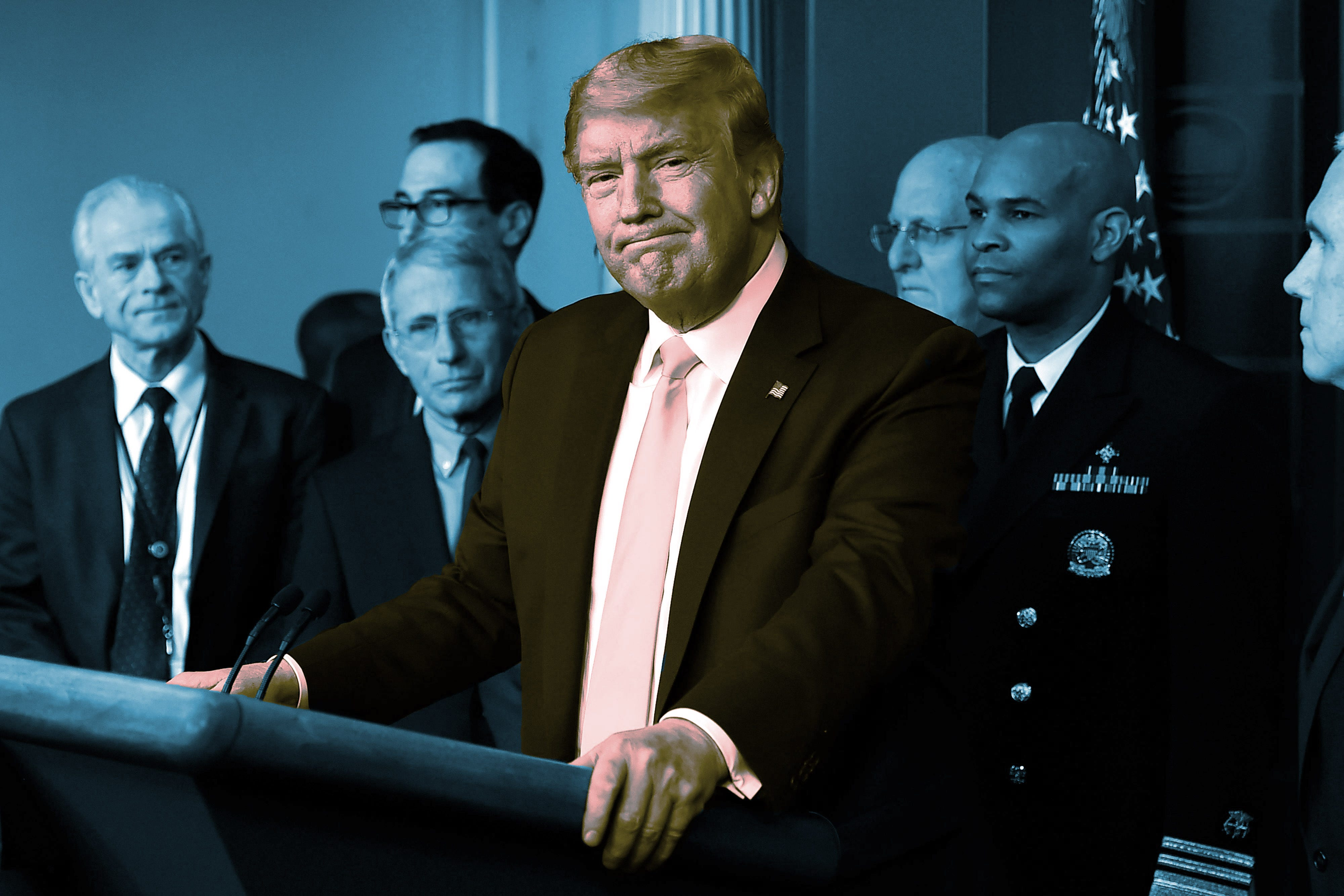 Trump speaking to press