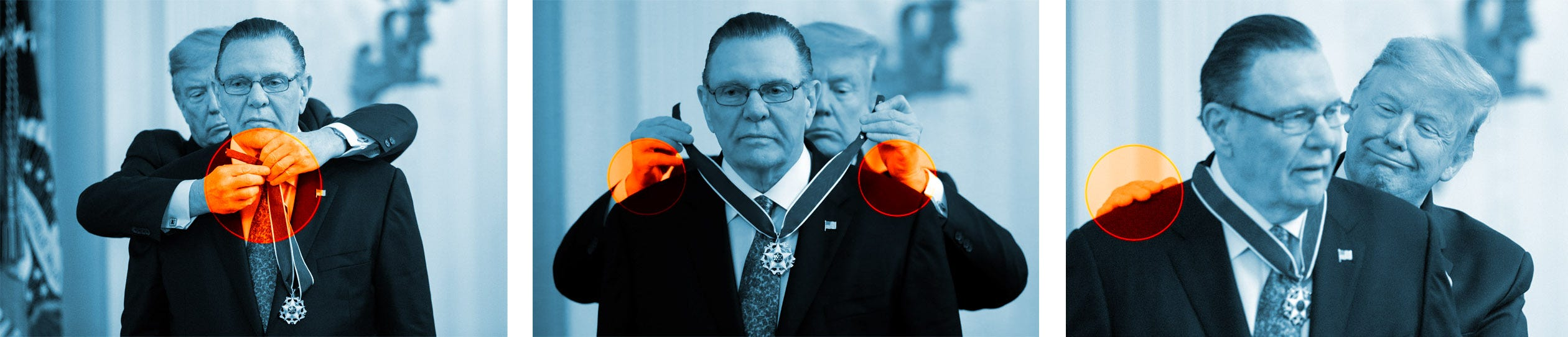 MARCH 10: President Donald Trump presents the Presidential Medal of Freedom to former Vice Chief of Staff Army Gen. Jack Keane in the East Room of the White House.