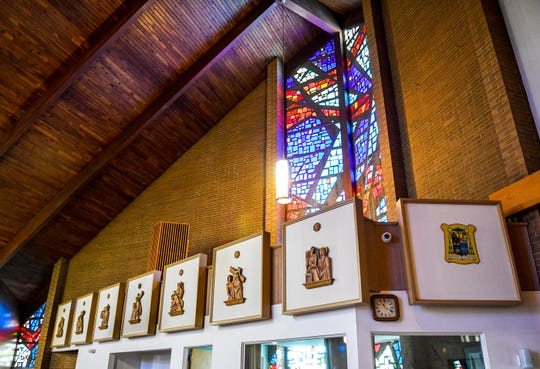 Our Lady of Pompeii Roman Catholic Church in Vineland, NJ, dedicated in May 1968, was meant to reflect the world of Naples and Vesuvius. The church serves descendants of Southern Italian immigrants.