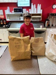 The Bagel Factory in Binghamton provided breakfast for 30 front line workers on April 4, sponsored by a community member through the Hospital Heroes program.