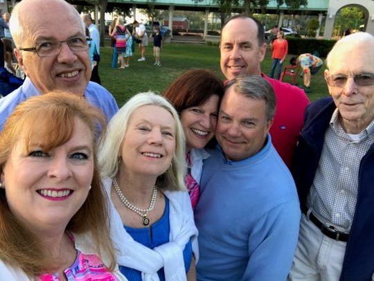Some day soon, we'll be able to gather for Easter services, dinner with friends and group photos. Pictured in Cocoa Village on Easter 2017 are, from left, Suzy Fleming Leonard, David Prather, Ruth Prather, Connie Harvey, Bob Harvey, Steve Leonard and Ellis Fleming.