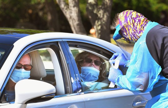 April 7 was OMNI Healthcare's first main day of drive-thru nasal swab coronavirus testing for the general public,who had registered and pre-qualfied.