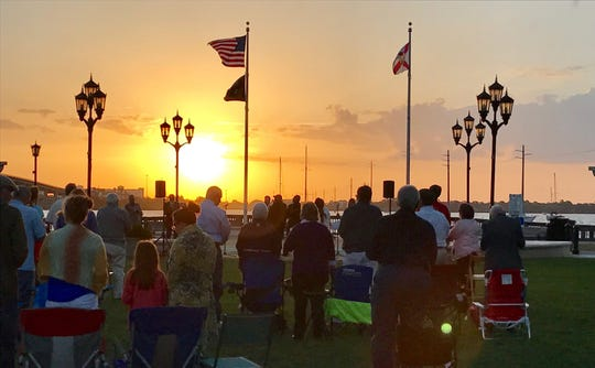 Easter 2017 was spent singing hymns while the sun rose over the Indian River in Cocoa Village.