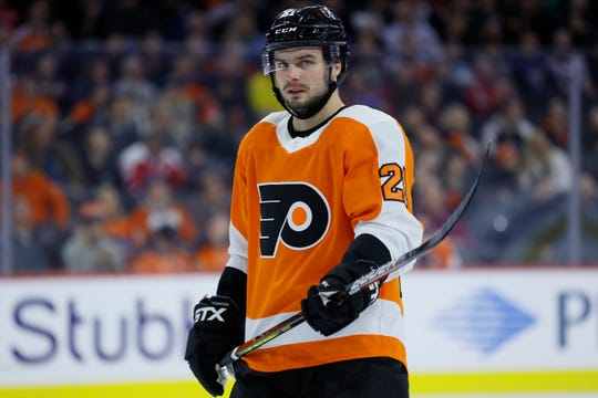 Scott Laughton was on pace for his best offensive season and the Flyers were one point out of first place when the NHL paused its schedule on March 12.
