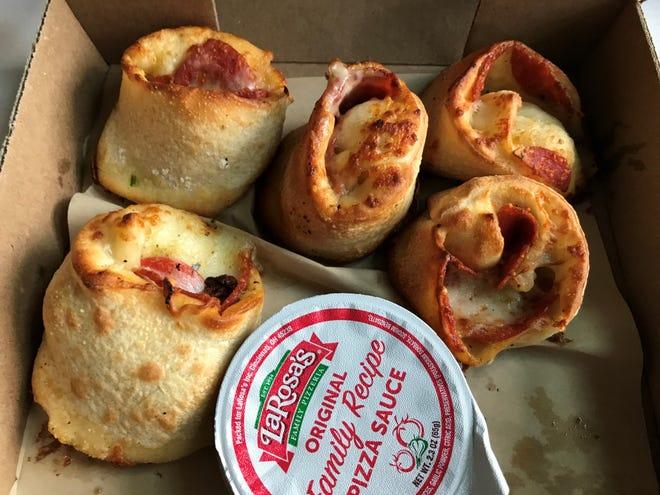 An order of LaRosa's Rondos ordered through the pizzeria's Boudinot Avenue location Tuesday, April 7, 2020.